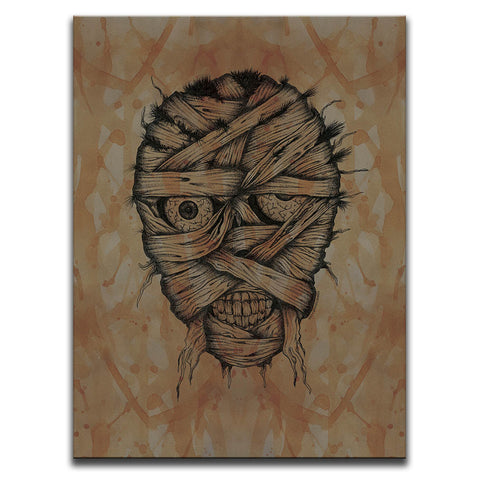 Blood Stained Faces Of Death : Mummy Wall Art