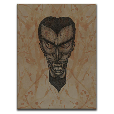 Blood Stained Faces Of Death : Vampire Wall Art