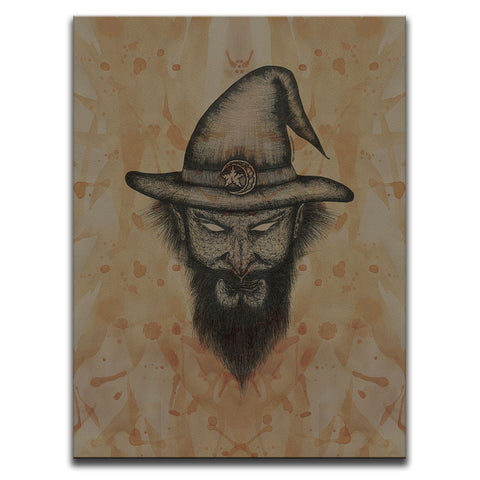 Blood Stained Faces Of Death : Wizard Wall Art