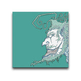 Face Off: Facing Left Turquoise Wall Art Thumbnail