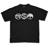Idolatry black t shirt features an egyptian eye a dollar sign and a tree logo surrounded by circles by Broken Babies on antipopcult.com