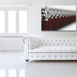 Possession Is Nine-Tenths Of The Law High Court Edition Canvas shown on a wall in a white room with sofa