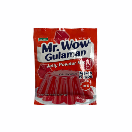 Galinco - Mr. WOW Gulaman Jelly Powder Mix (RED) 24 G