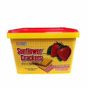 Croley Foods - Sunflower Crackers Strawberry Flavor Cream Sandwich 28.3 oz