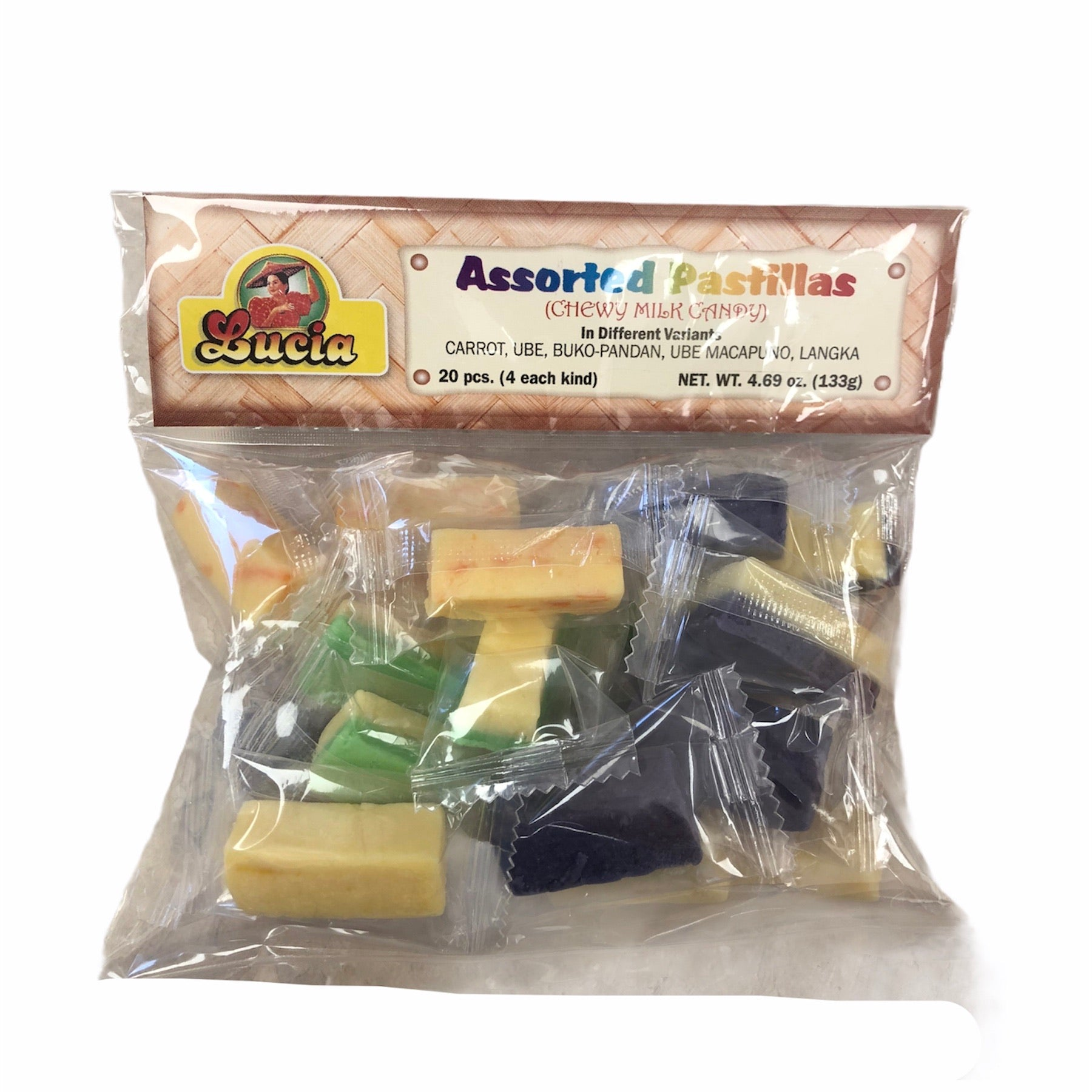 Lucia - Assorted Pastillas - Chewy Milk Candy 4.69 OZ