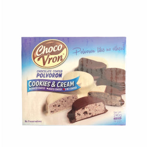 Choco Vron - Chocolate Coated Polvoron Cookies & Cream 240 grams