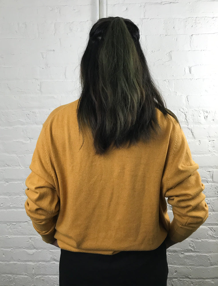 germ-nation mustard crewneck XL