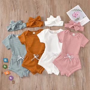 3 Pcs Solid Color Outfit