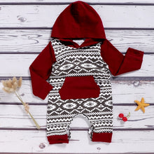 Load image into Gallery viewer, Winter Hooded Romper