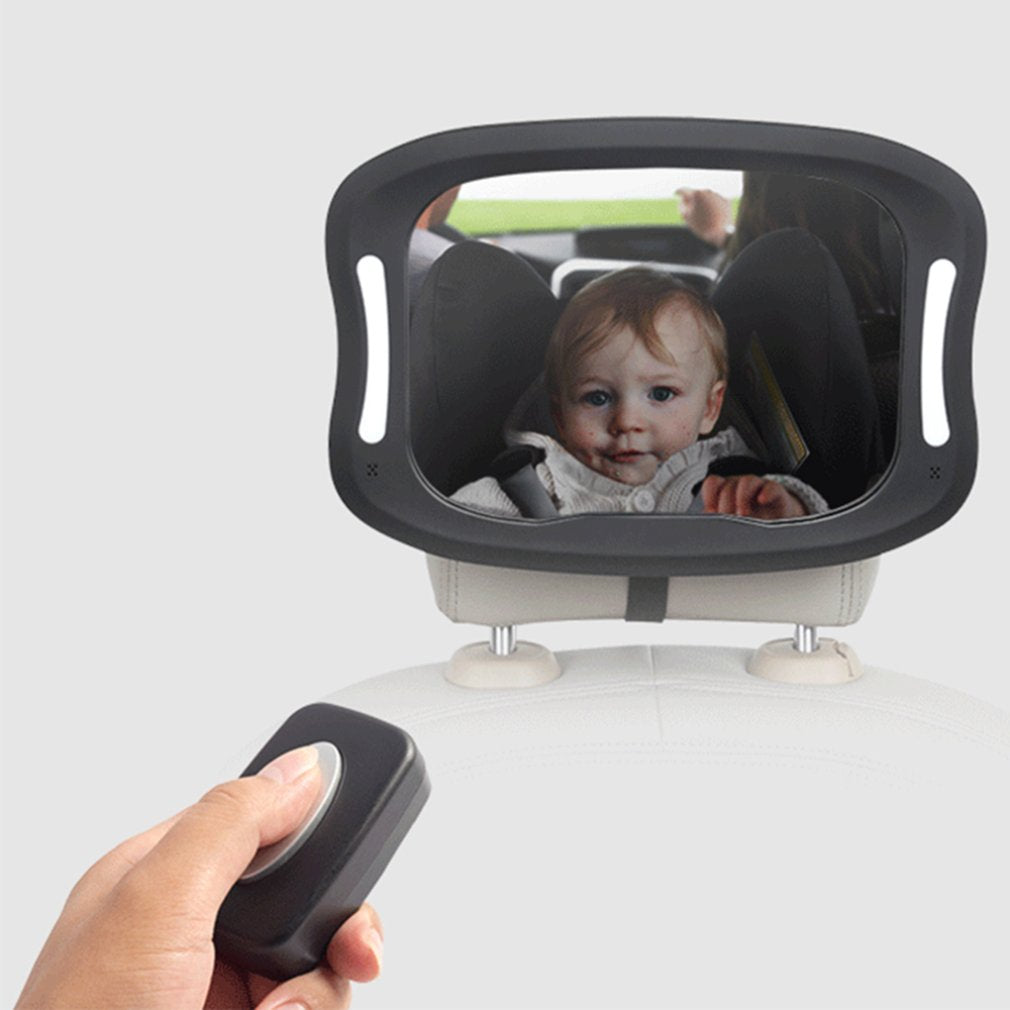 Car Seat Rear view Mirror With LED Lights