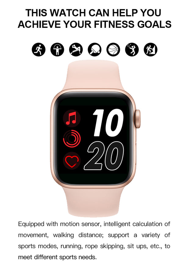 Smart Watch Touch Screen Heart Rate Monitoring (Support Call, Whatsapp, Music) 2 Years Warranty! - Dunter Store