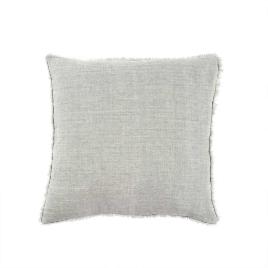 Lina Linen Pillow (Flint Grey)