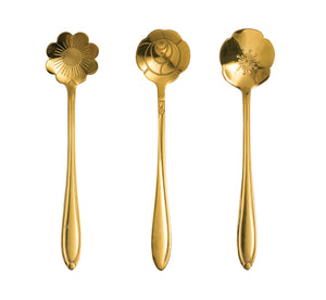 Gold Flower Spoons