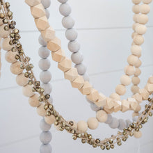 Load image into Gallery viewer, Wooden Bead Garland (Grey)