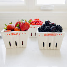 "Load image into Gallery viewer, Square Stoneware ""Berries"" Berry Basket"