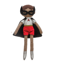 Load image into Gallery viewer, Super Hero Doll (Black Cape)