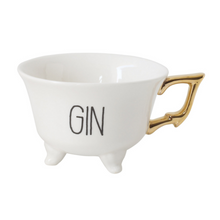 "Load image into Gallery viewer, Footed ""Gin"" Tea Cup"