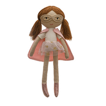 Load image into Gallery viewer, Super Hero Doll (Pink Cape)