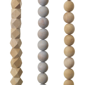 Geometric Wooden Bead Garland