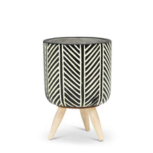 Load image into Gallery viewer, Herringbone  Tripod Planter (Small)