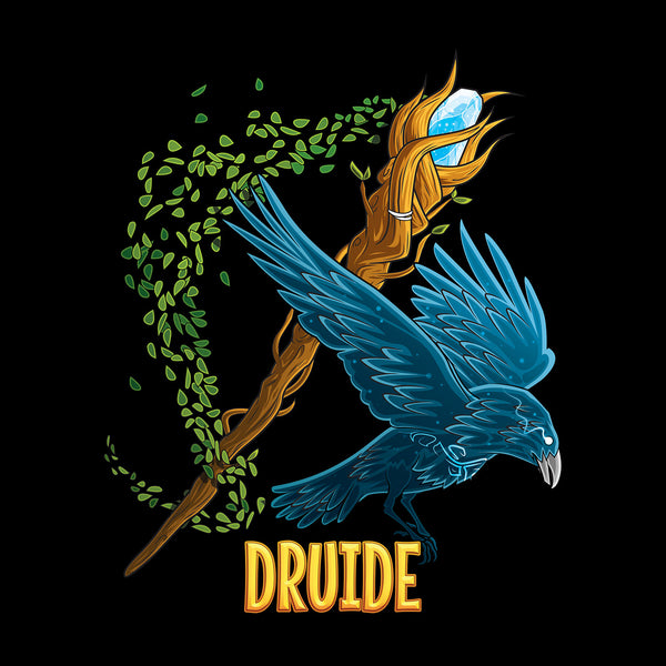 T-shirt BIO homme - classe druide articles geek gamer mmorpg fantasy
