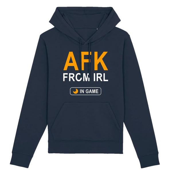 Sweat BIO homme - AFK from IRL - Heroes Stuff - gamer, homme, jeux video, marine, noir, sweat