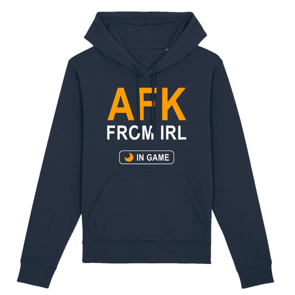 Sweat BIO femme - AFK from IRL - Heroes Stuff - femme, gamer, jeux video, marine, noir, sweat