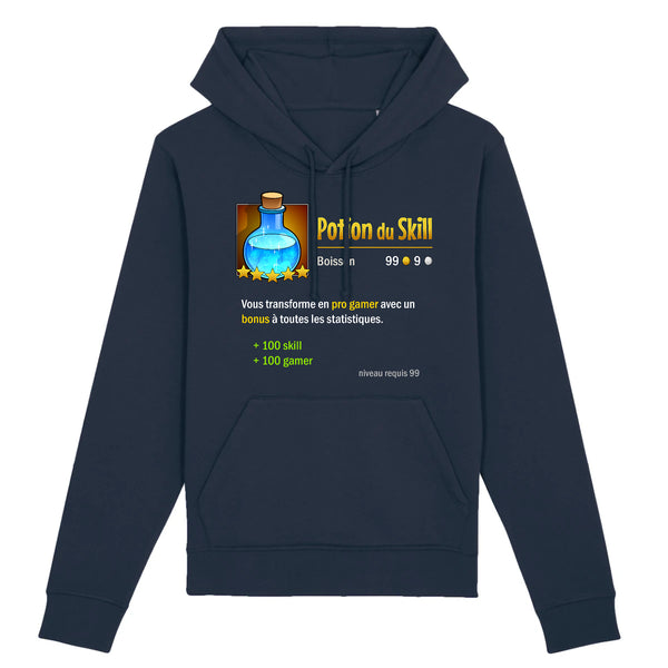 Sweat BIO femme - Potion du skill - Heroes Stuff - femme, gamer, jeux video, marine, noir, sweat