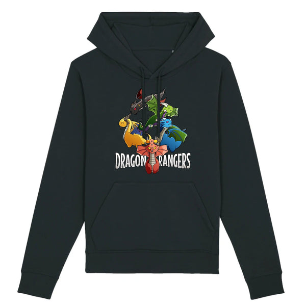 Sweat BIO femme - dragon rangers - Heroes Stuff - animaux, blanc, fantasy, femme, marine, noir, pop culture, sweat, trop mignon