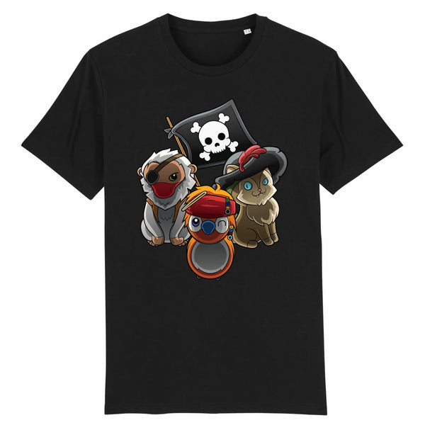 T-shirt BIO homme - sea of pirates - Heroes Stuff - animaux, blanc, homme, marine, noir, pop culture, T-shirt, trop mignon