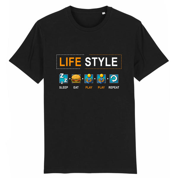 T-shirt homme - Gamer life style - Heroes Stuff - gamer, homme, jeux video, marine, noir, t-shirt
