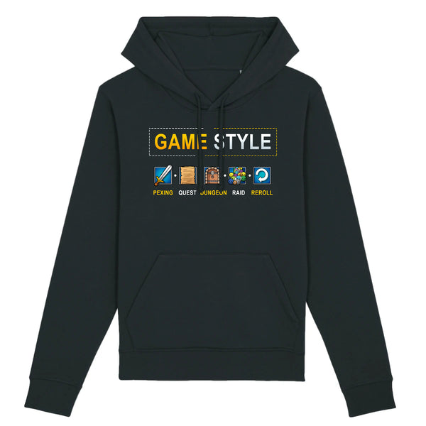 Sweat BIO homme - Game style - MMORPG - Heroes Stuff - gamer, homme, marine, mmorpg, noir, sweat