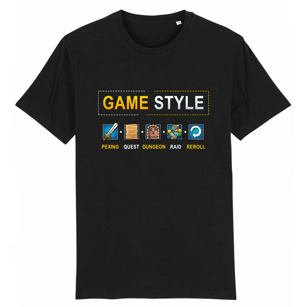 T-shirt BIO homme - Game style - MMORPG articles geek gamer mmorpg fantasy