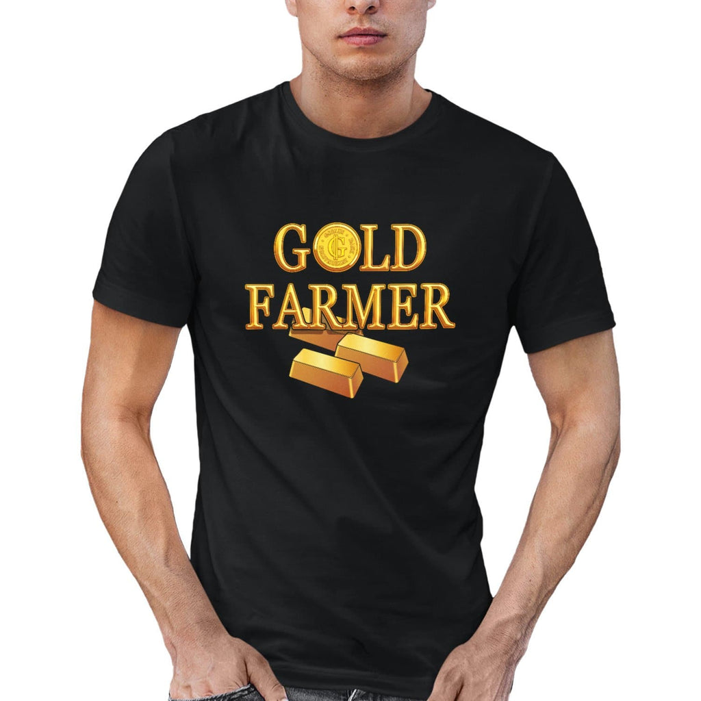 T-shirt BIO homme - Gold farmer articles geek gamer mmorpg fantasy