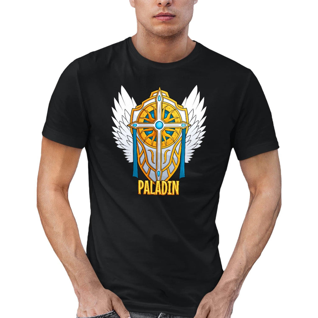 T-shirt BIO homme - classe paladin articles geek gamer mmorpg fantasy
