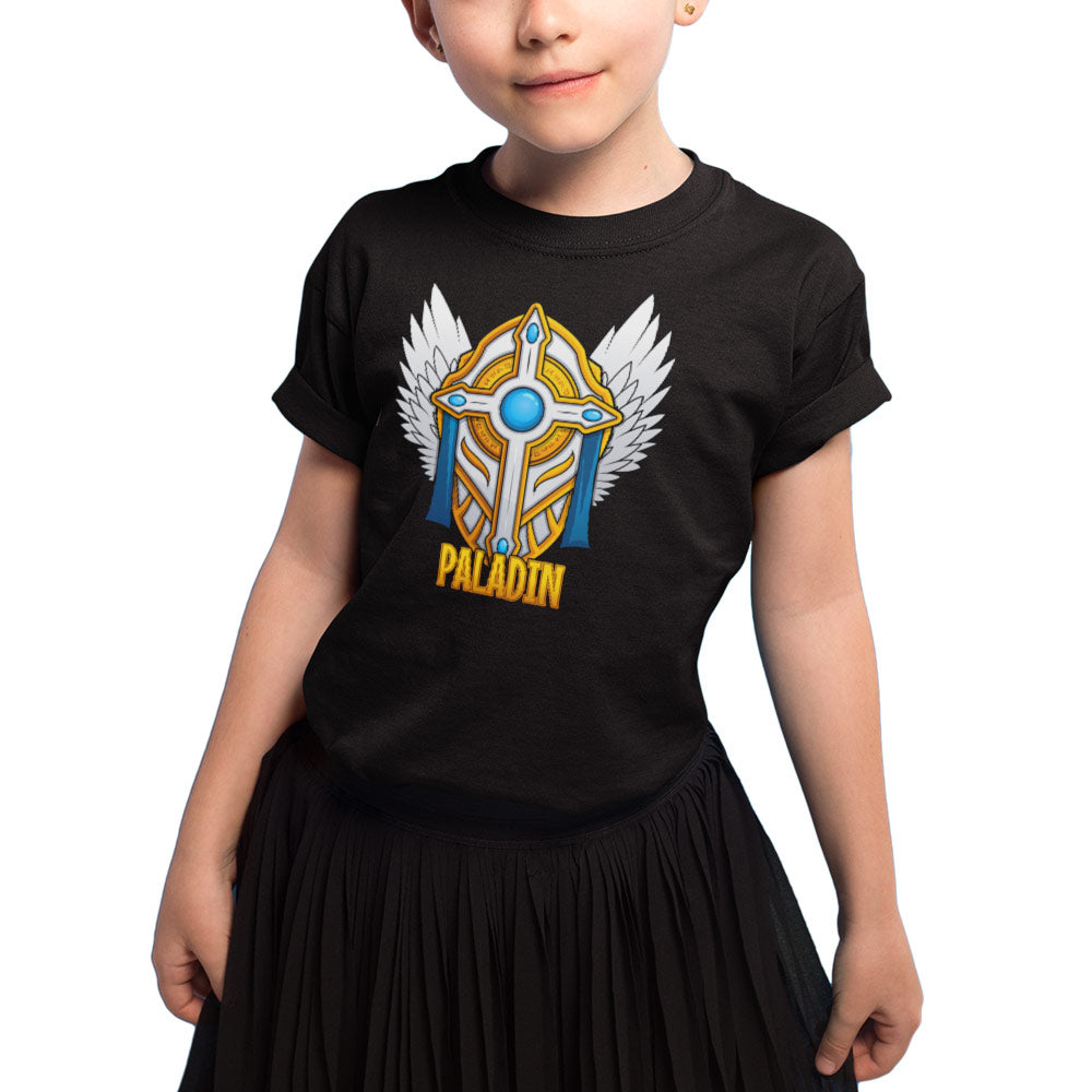 T-shirt enfant Fille - Paladin - Heroes Stuff - fantasy, fille, jeux de rôle, jeux video, mmorpg, noir, t-shirt