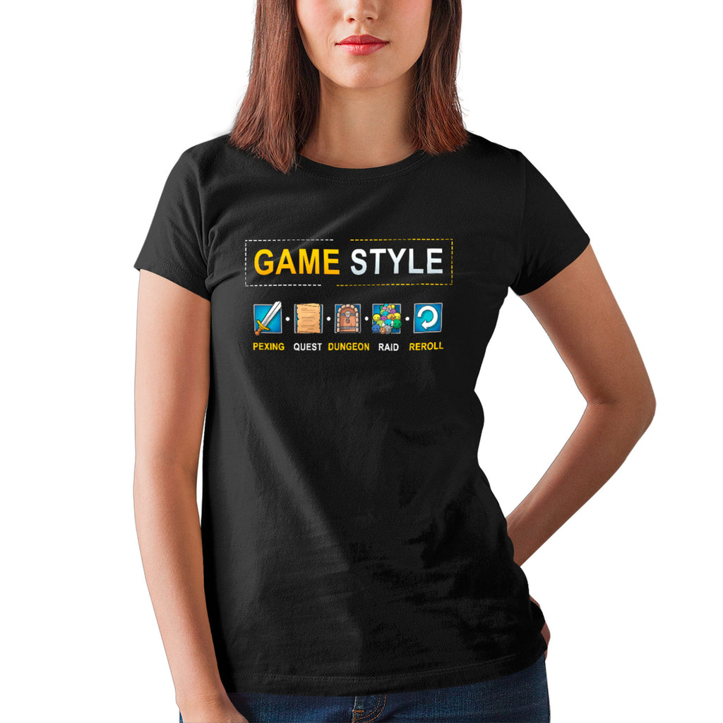 T-shirt BIO femme - Game style - MMORPG articles geek gamer mmorpg fantasy