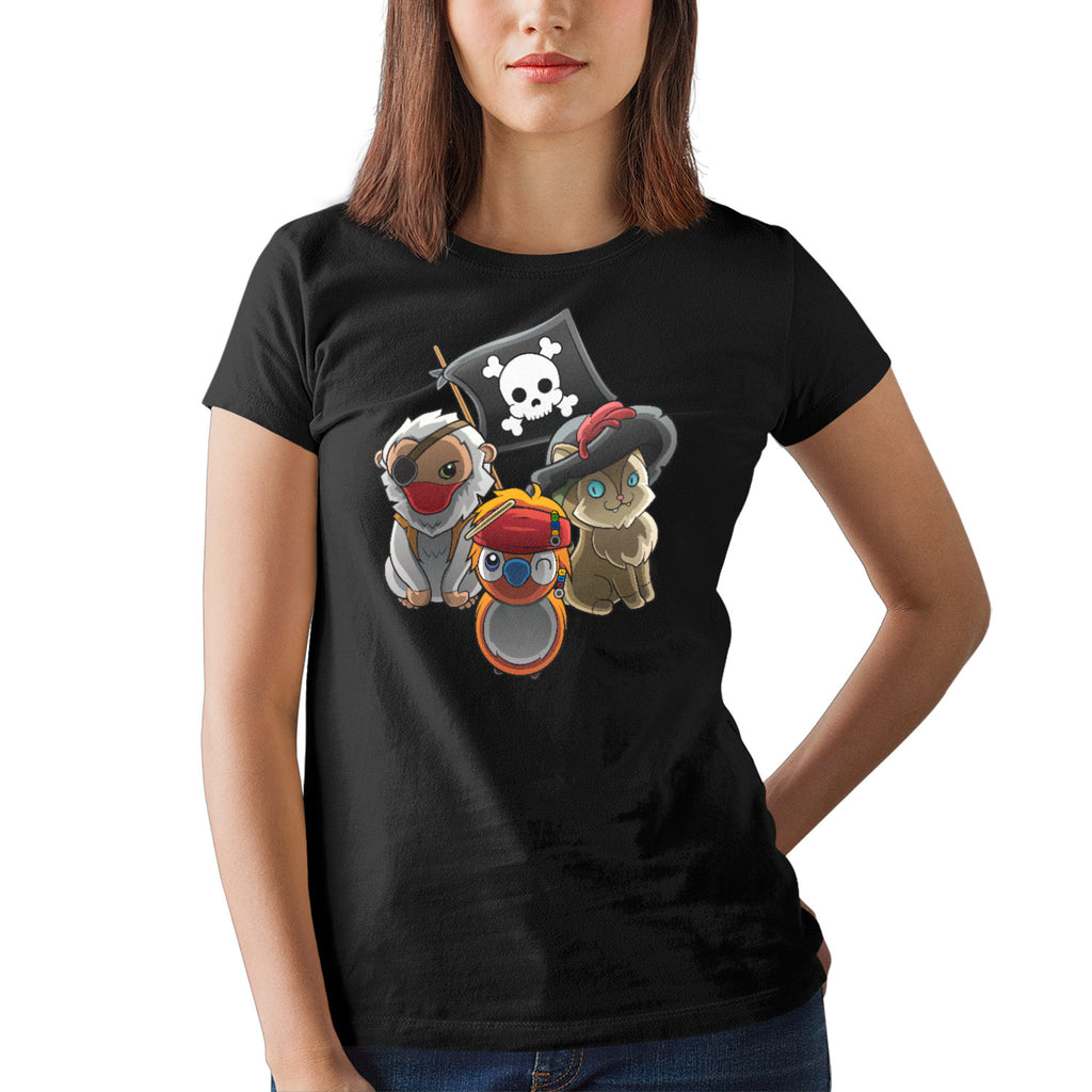 T-shirt femme - sea of pirates - Heroes Stuff - animaux, blanc, femme, marine, noir, pop culture, t-shirt, trop mignon
