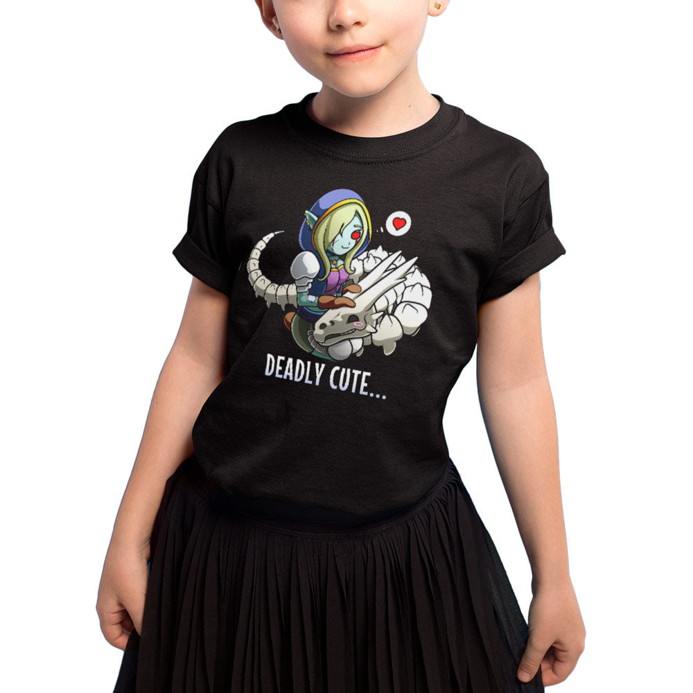 T-shirt enfant fille - deadly cute - Heroes Stuff - blanc, fantasy, fille, noir, t-shirt, trop mignon