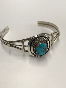Sterling and Turquoise Native American Bracelet