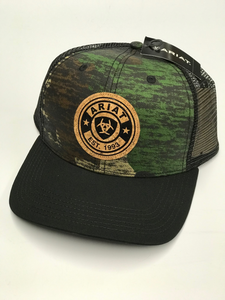 Ariat Camo with Cork Patch Ball Cap