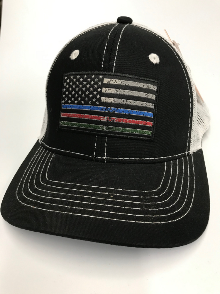 Justin Services Thin Line Flag Ball Cap