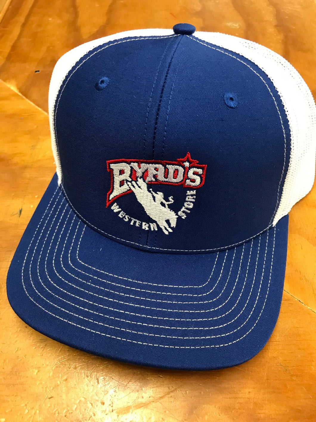 Byrd's Western Store Logo Blue/White Cap