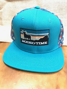 Dale Brisby Rodeo Time Turquoise Blanket Cap