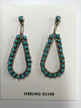 Load image into Gallery viewer, Native American Tear Hoop Earrings