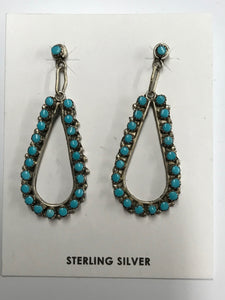 Native American Tear Hoop Earrings
