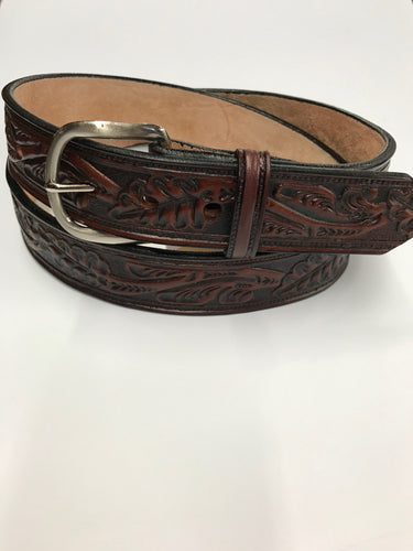 Gingerich Leather Men's Western Tooled Leather Belt