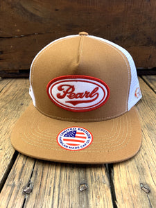 Pearl Beer Tan & White Ball Cap by Hooey