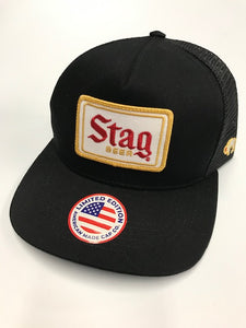 Stag Beer Black Ball Cap