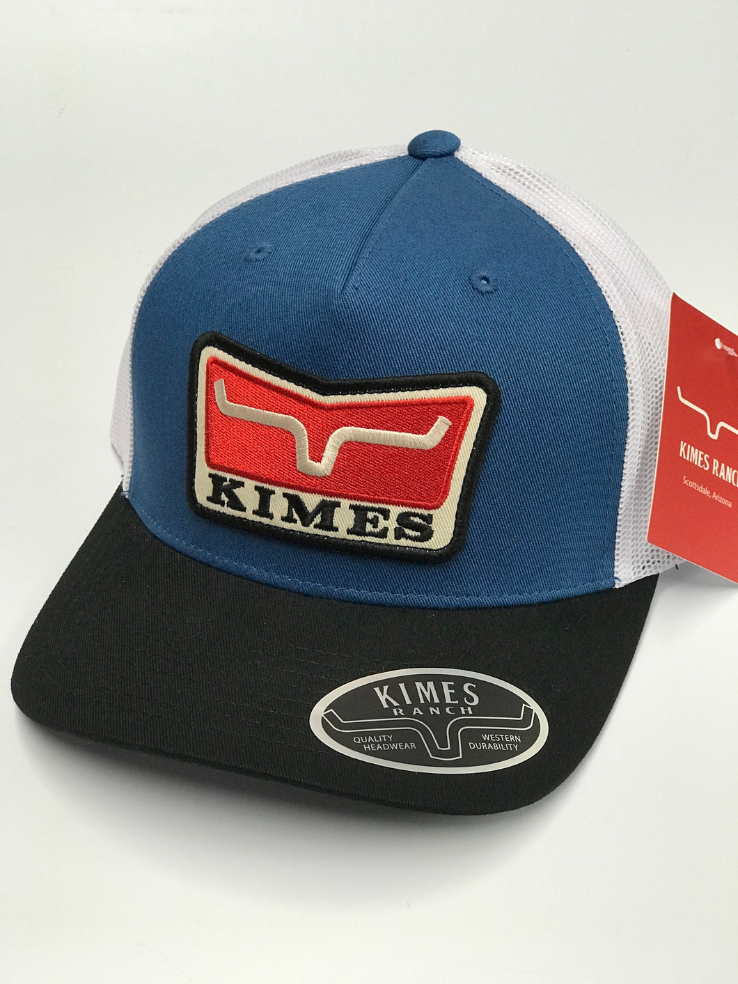 Kimes Ranch Service First Blue Trucker Cap